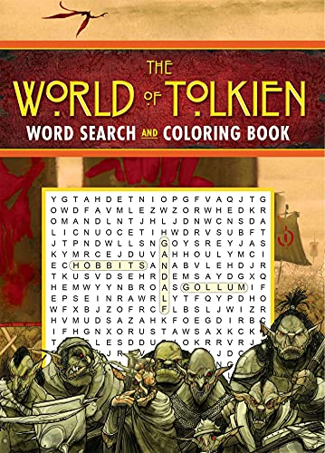 The World of Tolkien Word Search and Coloring Book (Coloring Book & Word Search)
