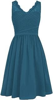 Best short teal lace bridesmaid dresses Reviews