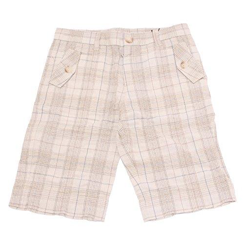 1515T bermuda bimbo DOLCE & GABBANA JUNIOR quadri beige short pant kid [10 YEARS]