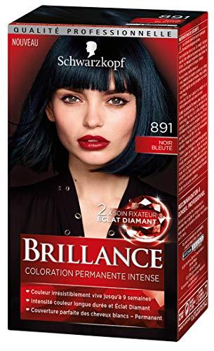 Schwarzkopf - Brillance - Coloration Cheveux Permanente Intense - Eclat de Nuit Noir Bleuté 891