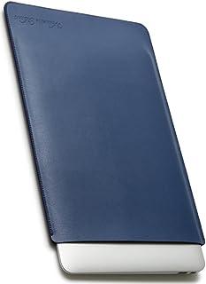 V.M MacBook Pro 13 スリーブ ケース レザー [11/12/13/15対応 軽 薄 皮 革 マックブック プロ 13インチ スリーブケース 13.3 インチ マックブックプロ PCスリーブ 13.3インチ ノート PC スリップイン PCケース ノートPC カバー ネイビー ブルー Mac Pro13 青