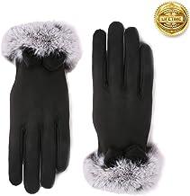 Vohoney Damen Winter Handschuhe Warme Handschuhe Baumwolle Handschuhe Strick Handschuhe Winterhandschuhe Touchscreen Handschuhe Weihnachten Geschenke