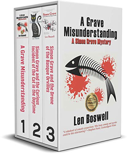 A Simon Grave Mystery Trio: A Grave Misunderstanding, Simon Grave and the Curious Incident of the Cat in the Daytime, and Simon Grave and the Drone of Basque Orvilles