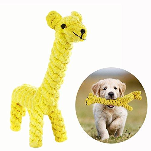Gearmax® Hundespielzeug Haustier Hundespielzeug Baumwolle Seil Spielzeug Dental Teaser Zahnreinigung für Kleine Hundewelpen Giraffe