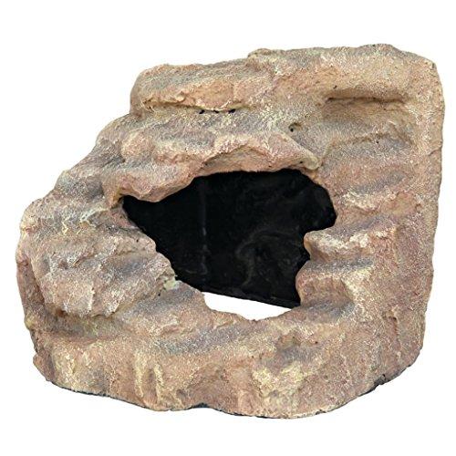 Trixie 76207 Eck-Fels mit Höhle und Plattform, 21 × 20 × 18 cm