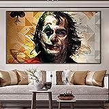 XIANGY Cuadro en lienzo para pintura de acuarela Joker, póster artístico, para salón, dormitorio, pasillo, decoración sin marco (60 x 120 cm)