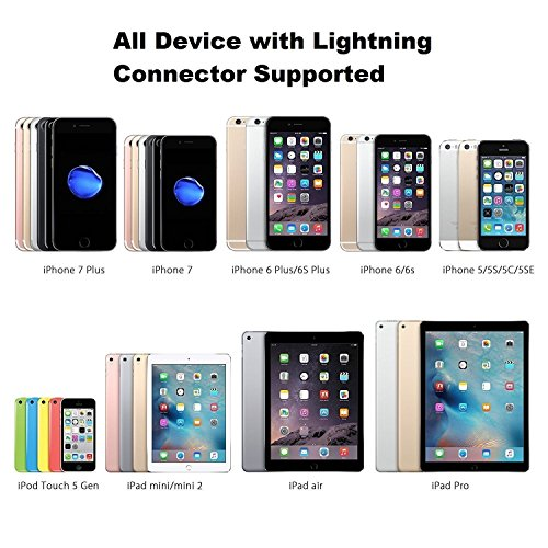 Lighnting Cable to HDMI, HD TV Cable for Iphone,Ipad Mini Video Adapter for IPhone8 Plus 7 Plus , IPad Air/Mini/Pro, IPod Touch 5th/6th - Plug and Play (Silver)