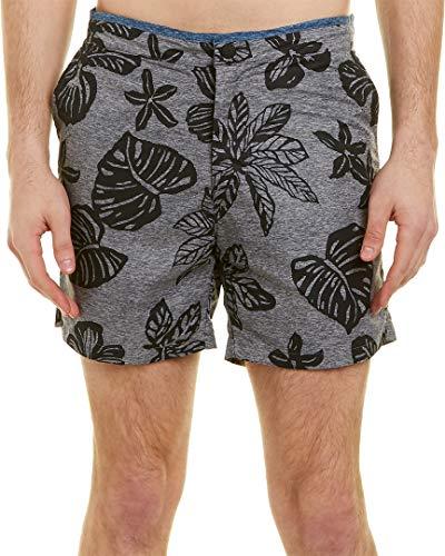Scotch & Soda Herren Printed Melange Swim Short with Cut & Sewn Waistband Badehose, Combo B, XX-Large