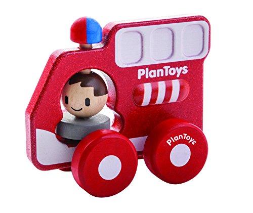 PlanToys- Fire Truck, PT5687, Wood