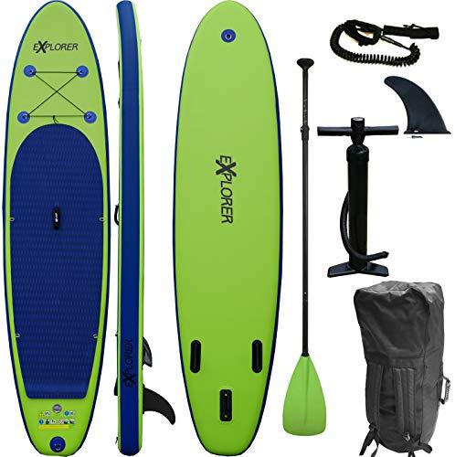 Loftra SUP Set von Explorer Stand Up Paddle Board aufblasbar Paddel ISUP 320 cm (GRÜN)