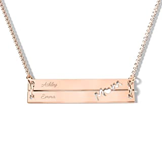10K 'Made for Mom' Engravable Double Bar Necklace by JEWLR