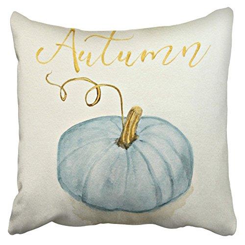 Accrocn kussenslopen decoratieve herfst val gratis blauw grijs Assepoester pompoen aquarel gooien kussenslopen case hoesjes cover kussen bank grootte 18x18 inch een kant