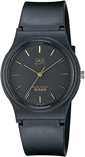 Q&Q For Unisex Black Dial Rubber Band Watch - VP46J003Y