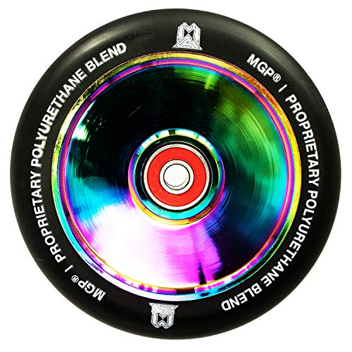 MGP Madd Gear F26 LTD Hollow Rainbow Neochrome/Pu - Rueda para patinete (110 mm), color negro
