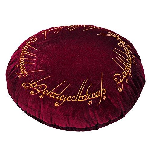 Elbenwald Lord of the Anelli cuscino di un ring motif ricamo rotondo Ø 43 cm velluto rosso