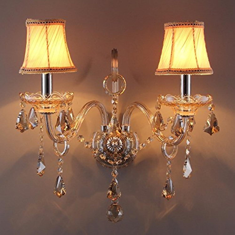 GaoHX Europischen Crystal Nachttischlampe Wohnzimmer Schlafzimmer Wand- Und Zinklegierungen (Kerze) Wandleuchte,C