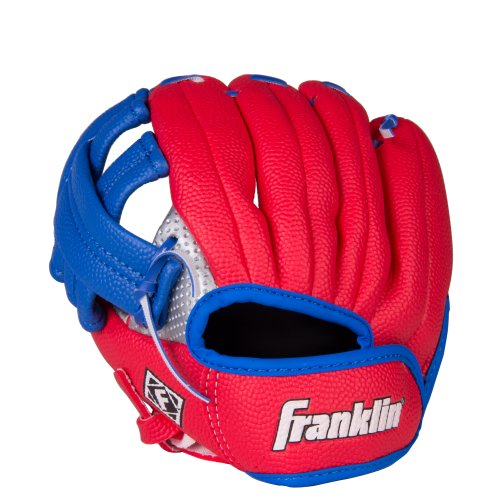 Franklin Sports Air Tech Teeball Glove - Lightweight Foam Fielding Glove - 9.0 Inch - Ready To Play Construction - Left Hand Throw - Colors May Vary