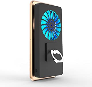 5000mAh Cooling Fan Stand Ring Heat Radiator USB Power Bank Battery Ultra Silent Dissipate Cooler Holder For Phone Gear VR Glass With LED Light