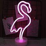 NIWWIN Neon-Lichtschild LED Wanddekoration Nachtlicht USB/batteriebetrieben Neon für Weihnachten Geburtstag Geschenk Party Kinder Wohnzimmer Hochzeit Dekor (Flamingo)