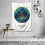N-X Tapiz de la montaña de la Locura tapices artísticos para Colgar en la Pared para la decoración del Dormitorio de la Sala de Estar del hogar 60 x 40 Pulgadas