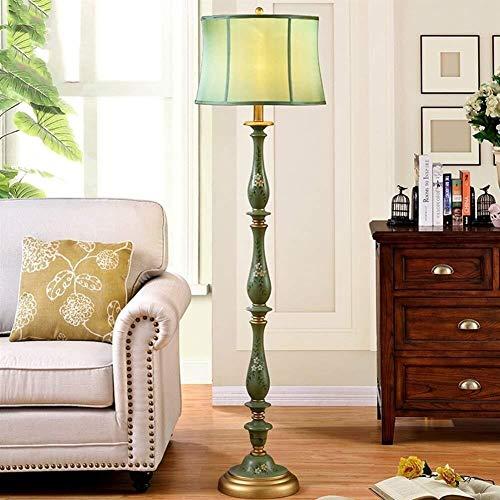 ZLININ Piso Luces Pintado a Mano de Hierro Forjado escandinavos Simplicidad de pie luminarias for Sala de Estar con sofá Bombilla incluida, A (Color : A)