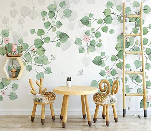 Papel Pintado Papel Pared 3D Hojas Verdes Frescas Vid Verde Fotomurales Mural Papel Pintado Sala De Estar Dormitorio Tv Fondo 250cmx175cm