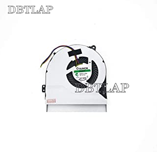 DBTLAP Ordenador portátil CPU Ventilador para ASUS F450C F450L F550C F550L R510V R510VB R510VC R510L R510LA R510LB R510LC R510LD R510LN enfriamiento Ventilador 4 Pins DC 5V