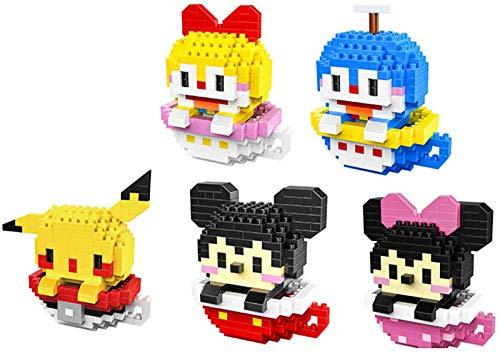FJJF Micro Bloques De Construcción Diamond Brick Figuras Juguetes para Niños Regalo (5 Piezas)