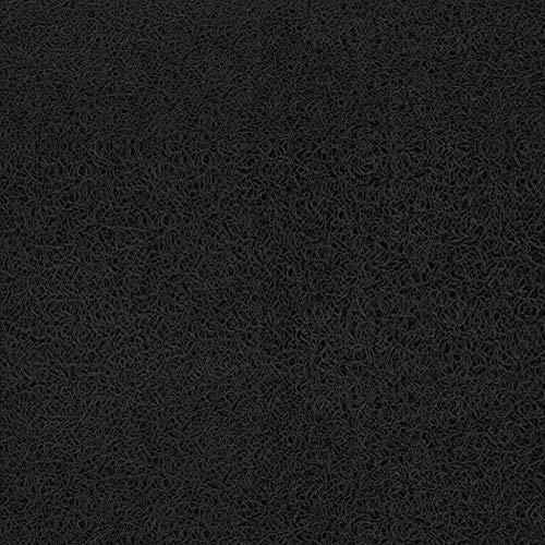 douceur d'intérieur tapis d'entree rectangle 45x75 cm pvc empreintes noir/taupe