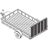 6′ 10' x 12′ Utility Trailer Plans – 3,500 lb Capacity | Trailer Blueprints Model U82-144-35J
