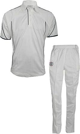 Nd Cricket Playing Kit Trousers Shirt Whites Xs Boys 7-8 Years