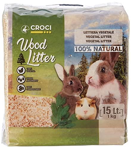 Croci R4AS0000 Wood Litter - Yacija Natural para Animales Domesticos, 1 kg 🔥
