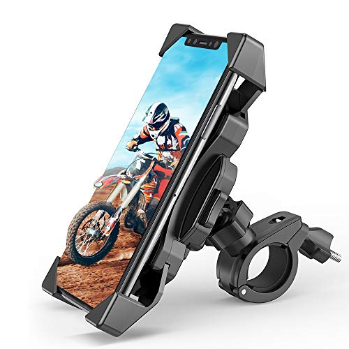 FYLINA Fahrrad Handyhalterung Universal Motorrad Handy Halterung Einer Handbedienung Anti-Shake Fahrradhalterung mit 360° Drehbar für 4,0-6,5 Zoll Smartphone