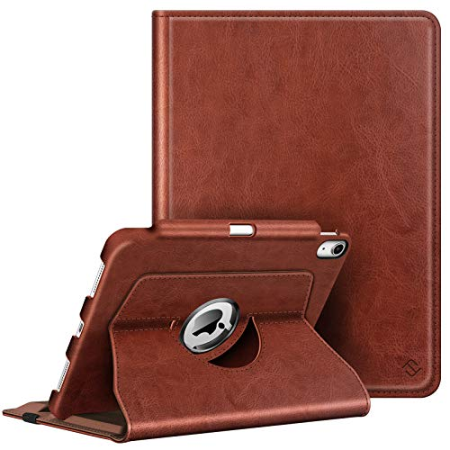 Fintie Case for iPad Air 4 10.9 Inch 2020 with Pencil Holder [Support 2nd Gen Pencil Charging] - 360 Degree Rotating Stand Cover with Auto Sleep/Wake for iPad Air 4th Generation, Brown