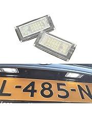 GOFORJUMP LED-kentekenplaatverlichting, 12 V Compatibel voor B / MW voor Mini C / ooper S R50 R52 R53, accessoires, 2 x wit, SMD, lampenset met LED-nummer