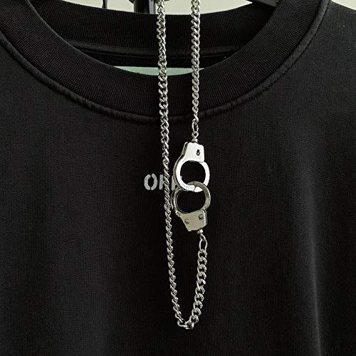Herren Halskette Punk Hip Hop Halskette Retro Anhänger Schmuck Gezeiten Pullover Kette