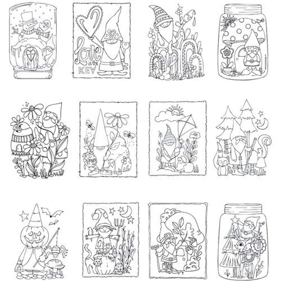 ADORNit Gnome Life Mini Coloring Book