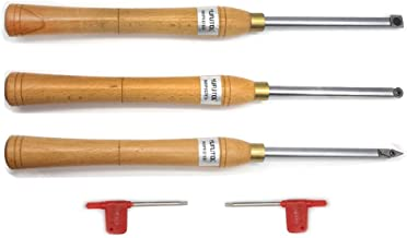 Wood Turning tool Carbide Tipped Working Lathe Tools Combo Set Include Finisher Rougher..