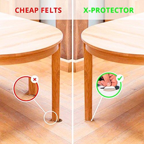 "X-PROTECTOR 8 Pack Premium Felt Furniture Pads 8""x6"" HEAVY DUTY 1/5"" Felt Sheets! Cut Furniture Felt Pads for Furniture Feet You Need – Best Furniture Pads For Hardwood Floors!"