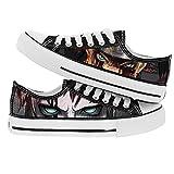 NXMRN Naruto Zapatos De Lona De Corte Bajo Modelos De Pareja Zapatos De Hombre Zapatos De Mujer Zapatos Casuales Zapatos Blancos Zapatos Deportivos para Estudiantes-41