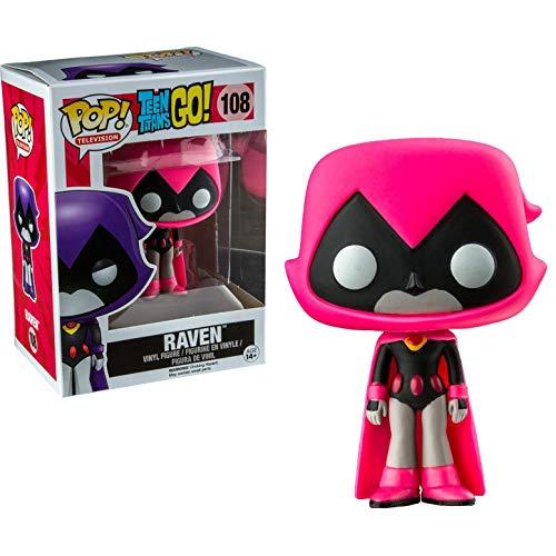 Funko - Figurine Dc Comics - Teen Titans Go! - Raven Pink Exclu Pop 10cm - 0889698114202