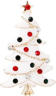 Vintage Christmas Tree Brooch Rhinestone Pin Charm Fashion Women Jewelry Gift