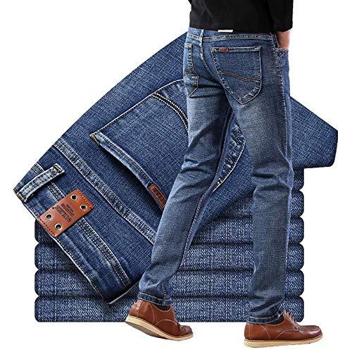 Vaqueros de Moda clásica Brand Jeans Diseño Exclusivo Famous Casual Denim Jeans Hombres Straight Slim Mid Waist Stretch