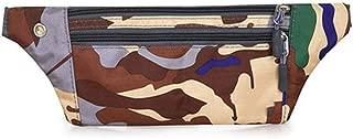 WOYAOFA Casual Sports Bag Outdoor Waterproof Pockets 32×11cm Headphone Hole Design Wearable (Color : Brown)
