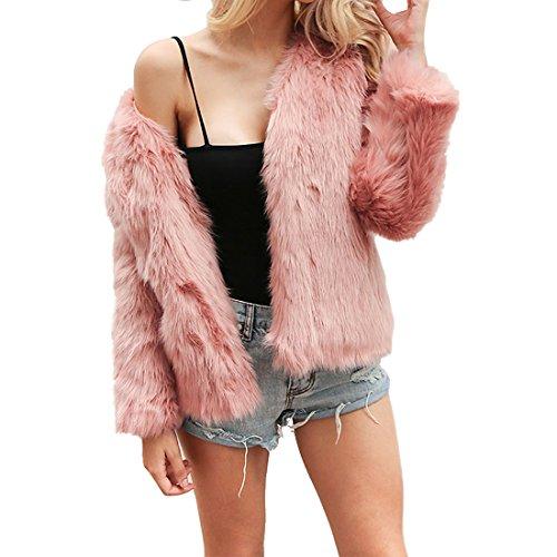 WomenS Winter Warm Teddy Bear Fluffy Fur Coat Cardigan Jacket Parka Outwear 6-12