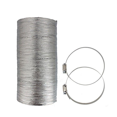 Flexible Clothes Dryer Duct - 10 Foot by 4 Inch | Includes 2 Premium...