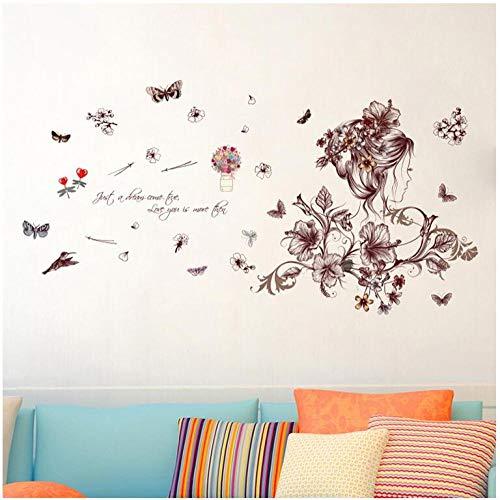 Adesivi da parete in vinile, per casa, soggiorno, camera da letto, armadio, TV, sfondo artistico, decorazione in vinile