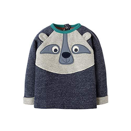 FRUGI Sweatshirt Forest Friend Indigo Terry Raccoon Gr. 62 68