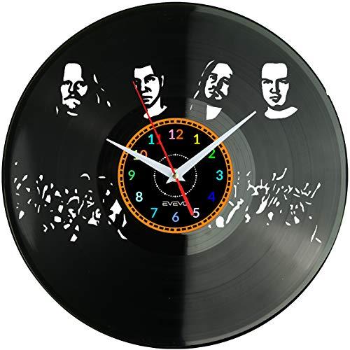 WoD Böhse Onkelz Wanduhr Vinyl Schallplatte Retro-Uhr Handgefertigt Vintage-Geschenk Style Raum Home Dekorationen Tolles Geschenk Uhr Böhse Onkelz