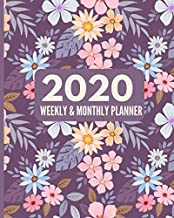 2020 Weekly and Monthly Planner: Special Needs Mom Planner | Busy Mom Planner and Gifts | Inspirational Quotes | January - December 2020 Planner | Pink | Purple | Floral